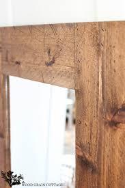 diy wood mirror frame. Fine Mirror DIY Framed Mirror Perfect Touch Of Farmhouse By The Wood Grain Cottage Inside Diy Mirror Frame E