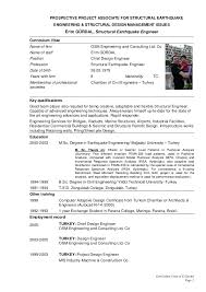 Building Engineer Resume Custom Resume Sample Erim Gurdal CV With Chief Design Enginner Building