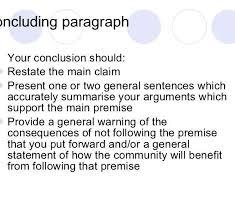 Argumentative Essay Conclusion Format Ibov