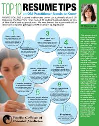 Top 10 Resume Tips An Om Practitioner Needs To Know By Pcom