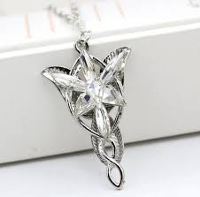 sku lotr lord of the rings silver arwen evenstar necklace charm pendant chain hobbit categories jewellery other
