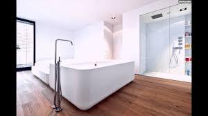 Holzboden Im Bad Badezimmer Glas Dusche Badewanne Youtube