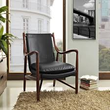 makeshift furniture. makeshift lounge chair in black leather by modway mwlc furniture depot o