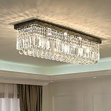 siljoy l40 rectangular raindrop crystal chandelier lighting modern regarding rectangle light fixture remodel 18