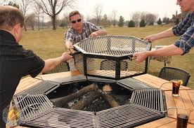 removable fire pit cover