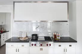 white marble tile kitchen. Contemporary Tile Square White Marble Tile Kitchen Backsplash For
