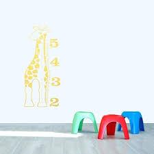 giraffe growth chart wall decal ruler