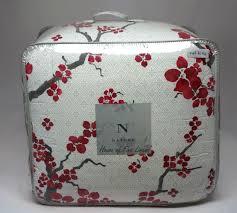n natori cherry blossom california king comforter set