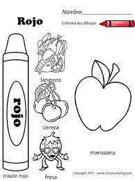 Free Spanish Coloring Worksheets   download   Español para los ...