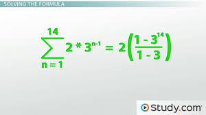 how to calculate a geometric series lesson transcript study com