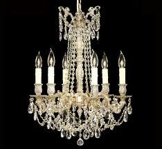 biella collection 6 light medium brass crystal chandelier