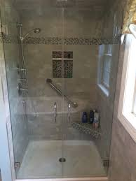 heavy glass shower enclosure 3 8 tempered glass french doors with chrome hardware