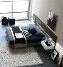 view in gallery exquisite modern bedroom with a minimal style and a masculine appeal
