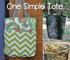 Free Tote Bag Patterns Classy One Simple Tote Free Tote Bag Tutorial Stitchwerx Designs