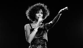 whitney black white. Happy Birthday Whitney Houston. Atlanta Black Star White