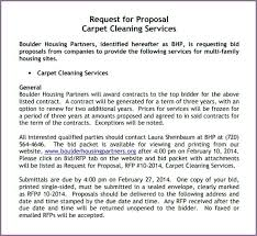 Proposal Letter For Service Contract Sample Cleaning Carpet Template ...