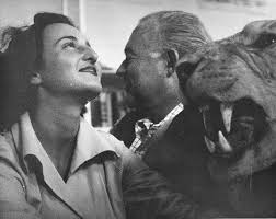 adriana ivancich and ernest hemingway beside a stuffed lion head adriana ivancich and ernest hemingway beside a stuffed lion head at finca vigia
