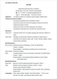 Us Resume Template Interesting American Resume Template American Resume Template Shalomhouse