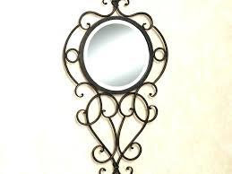 rod iron mirror iron scroll wall mirror rod iron mirror round wall mirror mirror wrought iron