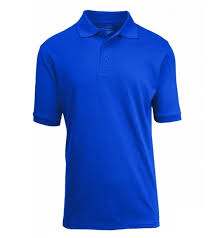 whole size short sleeve pique polo shirt school uniform in royal blue