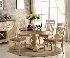 Fine Design Round Pedestal Dining Table Set Creative Round Pedestal