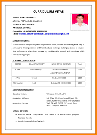 Sample Resume For Employment How To Write Cv For First Job Format Of Resume Application Download 30