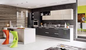 Modern Kitchen Color Schemes Small Kitchen Contemporary Color Scheme L Shaped Cherry Cabinet