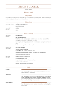 Kitchen Staff Resume samples