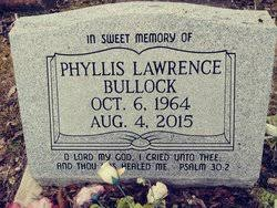 phyllis lawrence bullock 1964 2016