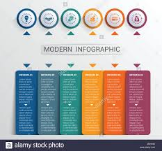 Infographic Website Template Infographics Design Template Color Buttons And Numbered 6 Plates