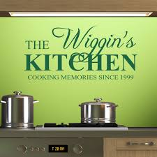Kitchen Wall Personalised Kitchen Wall Stickers Decals