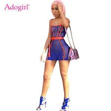 <b>Adogirl Side</b> Lace Up <b>Sheer</b> Mesh Ruched Midi Dress Women Sexy ...