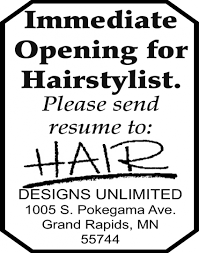 Hair Designs Unlimited Grand Rapids Mn Immediate Opening Hair Designs Unlimited Grand Rapids Mn