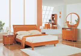round bedroom furniture. Brown Wooden Bed With Headboard Next To Round Bedside Table Added By Dressing Bedroom Furniture