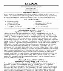 resume pharmacy technician