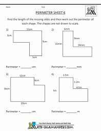 Area Worksheets Ks3 Perimeter Of Triangles Math For Grade ~ Koogra