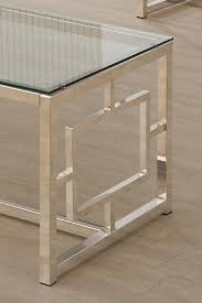 glass and metal furniture. Occasional Group Contemporary Metal Coffee Table With Glass Top \u0026 Geometric Motif And Furniture