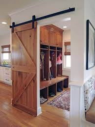 2. Wooden Barn Door And Rustic Feel