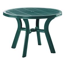 fancy round plastic outdoor tables 7 polywood patio dining rt236wh 64 1000