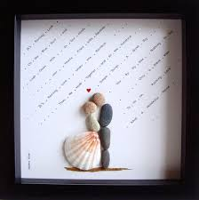 Unique WEDDING GiftCustomized Wedding GiftPebble ArtUnique Unique Gifts For Couples For Christmas