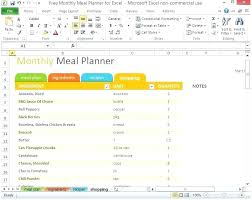 Excel Weekly Meal Planner Family Meal Planner Template Family Meal Planner Template Time
