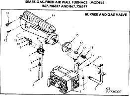 similiar boiler gas valve diagram keywords burner and gas valve diagram parts list for model 867736337 kenmore