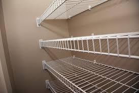 wire closet shelving corner home design ideas