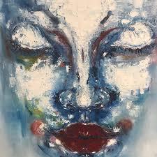 art painting artistic face creativity female