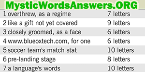 october 16 7 little words answers