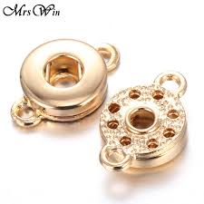 20pcs lot mrs win snap jewelry whole gold color 12mm snap accessories connecter fit handmade