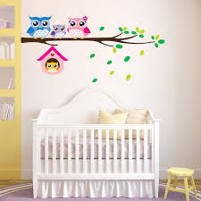 kids owl branch wall sticker