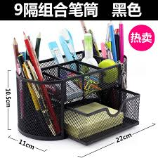 office pen holder. Get Quotations · Free Shipping Deli 8902 Multifunction Office Pen Holder Combination Of Black Reticularis Penholder