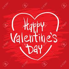 Happy Valentines Day Greeting Cards Vector Illustration Valentine