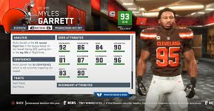 Madden 19 Cleveland Browns Player Ratings Roster Depth